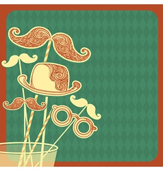 Moustache party background vector image vector image