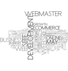 Web development the mother of ecommerce text word vector