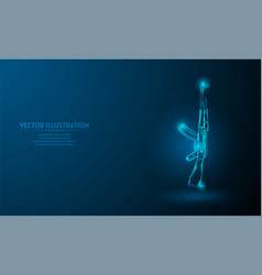 Akm on blue abstract background simple blue vector