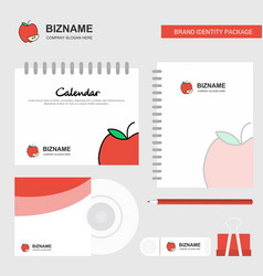 apple logo calendar template cd cover diary and vector image