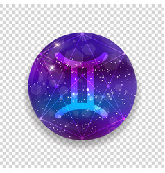 astrological symbol of gemini abstract shiny vector image