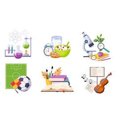back to school elements set education school vector image