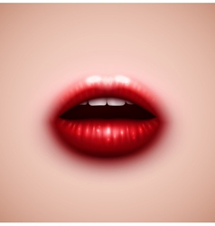 Background with lips vector image
