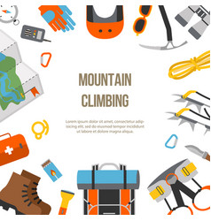 banner flat design equipment for climbing vector image
