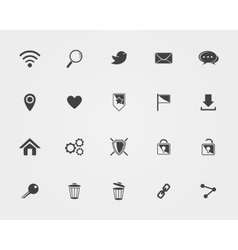 Basic web icons vector