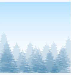 Beautiful winter season forest landscape day backg vector