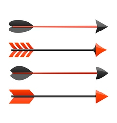 Bow arrows vector image