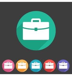 Briefcase portfolio flat icon vector
