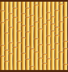 Brown bamboo stick pattern background vector