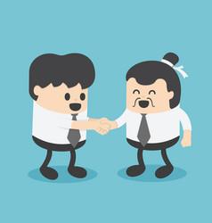 Businessmen create business relations vector