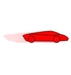 Cartoon fast car vector