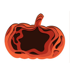 carved paper cut pumpkin thanksgiving treat jack vector image