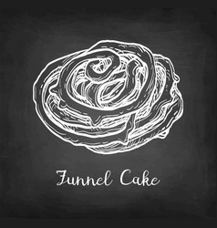chalk sketch funnel cake vector image