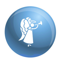 christmas angel icon simple style vector image