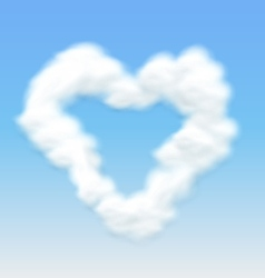 Clouds Shaped Heart Border Blue Sky vector image