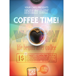coffee break flye or poster layout template vector image