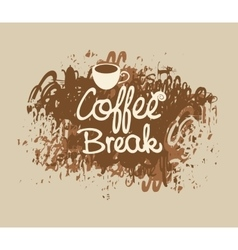 Coffee break with a cup vector