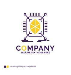 Company name logo design for object prototyping vector