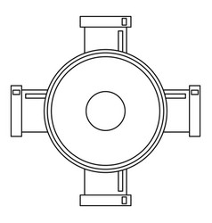 connection pipes icon outline style vector image