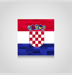 croatia flag design vector image