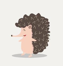 cute hedgehog flat design vector image