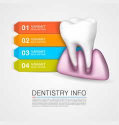 dentistry info medical art creative vector image
