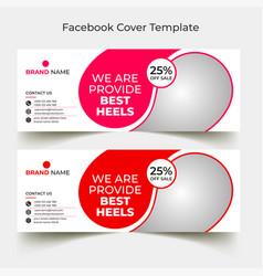 Discount fashion facbook cover design template vector