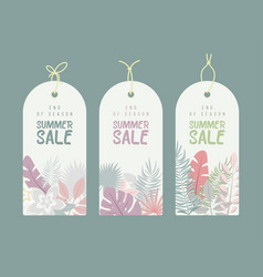 end of season summer hand drawn calligraphyc sale vector image