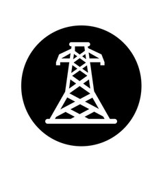 Energy tower isolated icon vector