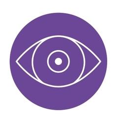 eye emblem icon image vector image