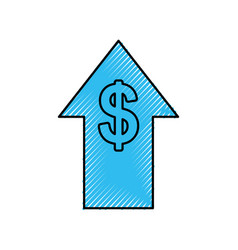 Financial arrow investment stock growth increase vector