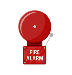 Fire alarm system equipment vector