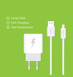 Flat design charger vector