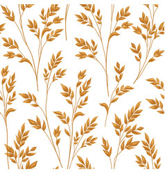 floral pattern with leaves ornamental seamless vector image