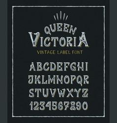 Font queen victoria vector