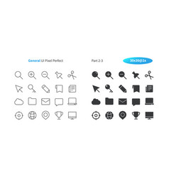 general ui pixel perfect well-crafted thin vector image