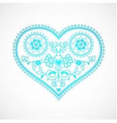 heart shape ornament for valentines day greeting vector image