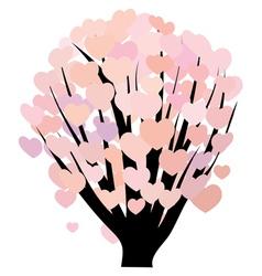 Hearts on bush vector image
