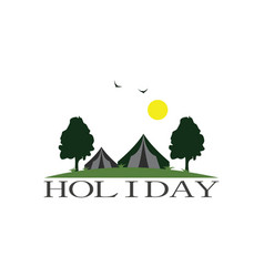 holiday camp garden logo vector image