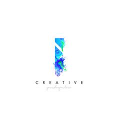i letter icon design logo with creative artistic vector image