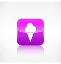 Ice cream web icon Application button vector