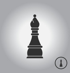 In flat style chess bishop vector