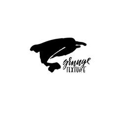 Ink dolphin grunge brush vector