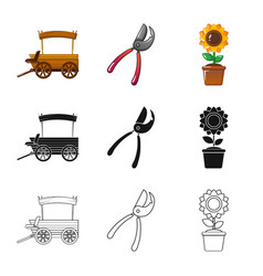 Isolated object of farm and agriculture sign vector