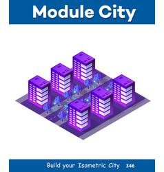 Isometric ultra city concept vector