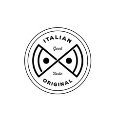 Italian original pizza logo vector