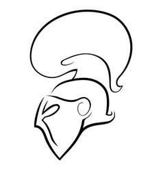 Knight head in helmet icon logo vector