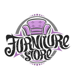 Logo for furniture store vector