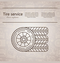 Logo - tire services vector