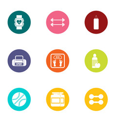 Med cooperation icons set flat style vector